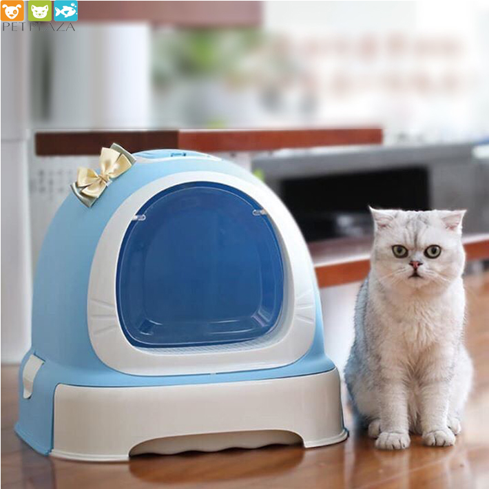Nhà vệ sinh mèo có nơ Makar bền đẹp - Phụ kiện thú cưng Pet plaza