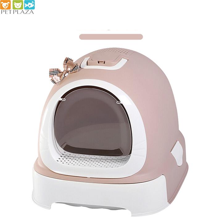 Nhà vệ sinh mèo có nơ Makar - phụ kiện chó mèo- PetPlaza