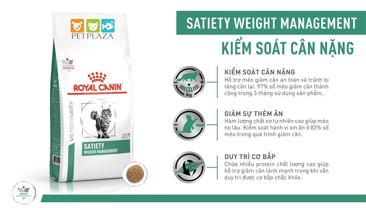 ROYAL CANIN SATIETY CAT - Thức ăn cho mèo bị thừa cân/béo phì