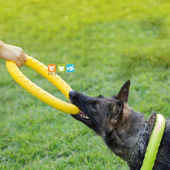 Vòng cao su đồ chơi huấn luyện tập cắn cho chó , purple ring dog toy, collar dog toy, dog puller sizes, Fitness ring dog toy
